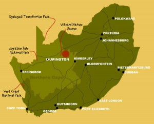 Map to Witsand Nature Reserve | Kalahari Safaris | Kgalagadi, Augrabies & Desert Tours