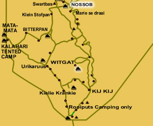 Tour D: Nossob 4x4 Eco Trail, 6 DAYS / 5 Nights Kalahari Safari