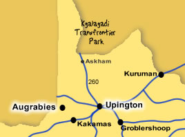 Tour A: Kgalagadi Transfrontier Park 3 days and Augrabies 1 Day Tour